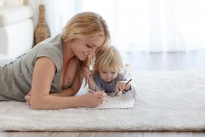 čištění koberců v domácnostech s dětmi